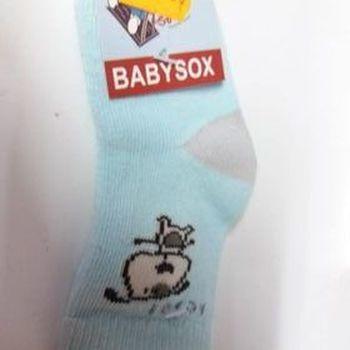 chaussettes bébé turquoise beige avec du coton