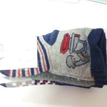 chaussettes bébé naissance avec du coton avec grues en PROMO - 3 pour 1.50€