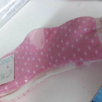 chaussettes bébé avec du coton - dans les tons rose - 3 pour 2.50€