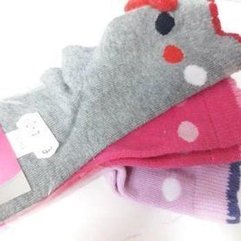 chaussettes bébé 19/22 avec du coton - pompon - 3 pour 4€
