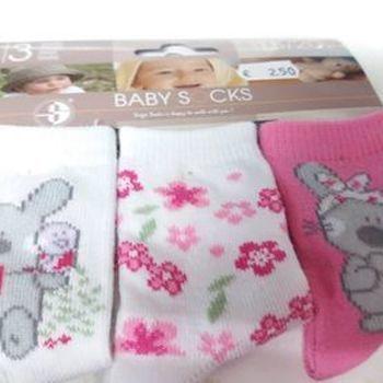 chaussettes bébé avec du coton - souris - rose - 15/17 18/20 21/23