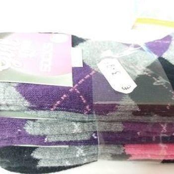 chaussettes avec du coton pour fille - losange - 3 pour 2€ en PROMO - reste 31/34