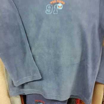 pyjama veste polaire pantalon flanelle - red birds bleu jeans - reste 8 ans