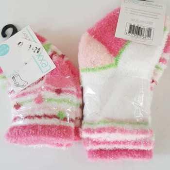 chaussettes bébé tout doux - rose - 56/68 74/86 en PROMO