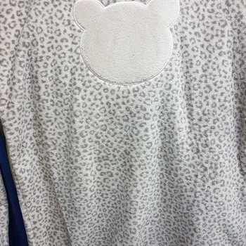 pyjama polaire fluffy (tout doux) pour filles - léopard beige - 8 ans