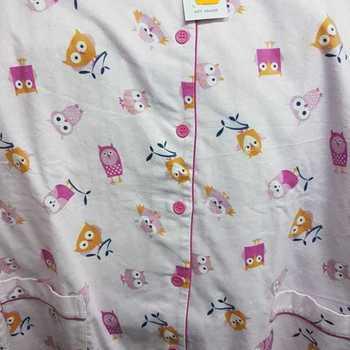 pyjama flanelle pour fille - oiseaux rose - 16 ans en PROMO