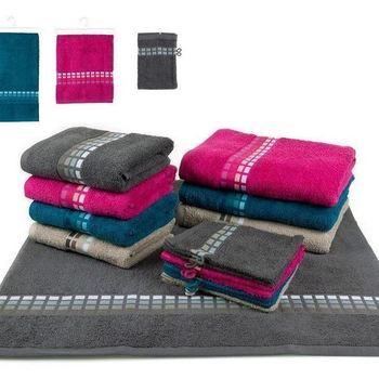 essuie-mains ou serviette quattro - 4 coloris de stock - 50*90cm