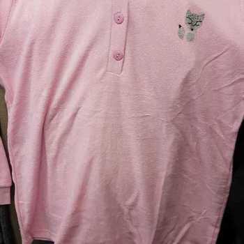 pyjama strech (éponge) broderie chat - rose - S à XL