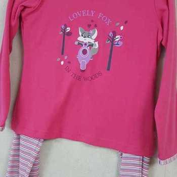 pyjama coton interlock lovely fox ( eskimo) - fuschia - reste 5 ans EN PROMO