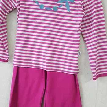 pyjama interlock (coton lourd) pour fille reste 2 ans - collier fuschia === EN PROMO