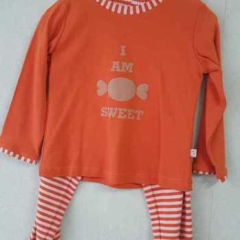 pyjama interlock (coton lourd) pour fille - rouille EN PROMO reste 3 ans