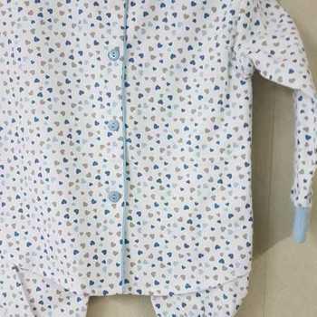 pyjama boutonné flanelle pour filles - coeurs ciel - reste 2 ans 6 ans