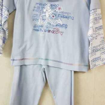 pyjama coton interlock pour fille - shopping ciel en PROMO reste 2 ans