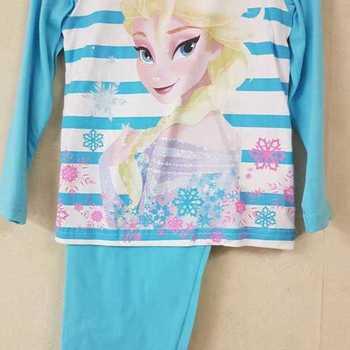 pyjama coton jersey reine des neiges - turquoise 2 ans