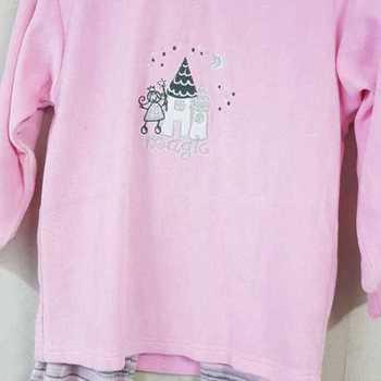 pyjama velours rasé chateau rose - reste 5 ans