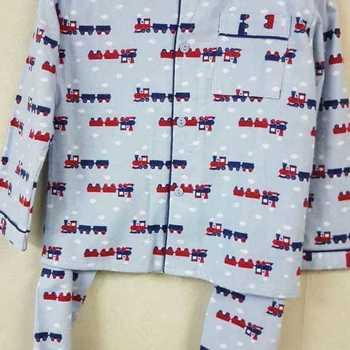 pyjama boutonné flanelle pour garçon - train ciel - reste 6 ans