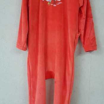 pyjama velours rasé orange - 2 ans