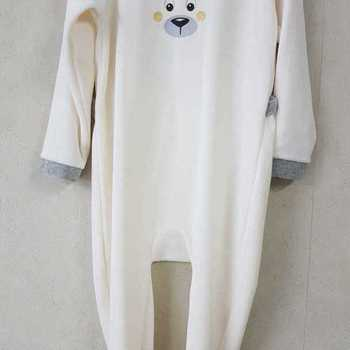 pyjama velours rasé ours écru - 2 ans