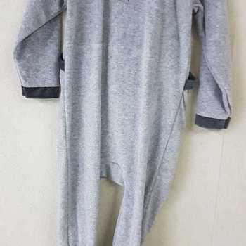 pyjama velours rasé ours gris - 2 ans