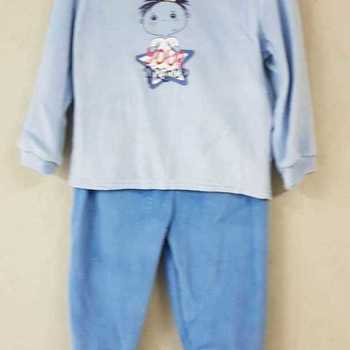 pyjama velours rasé avec pieds - prince - 2 ans