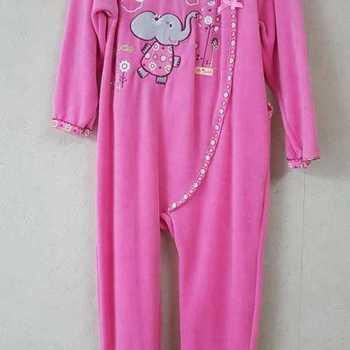 pyjama velours rasé éléphant rose - 2 ans