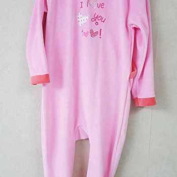 pyjama velours rasé rose orange - 2 ans