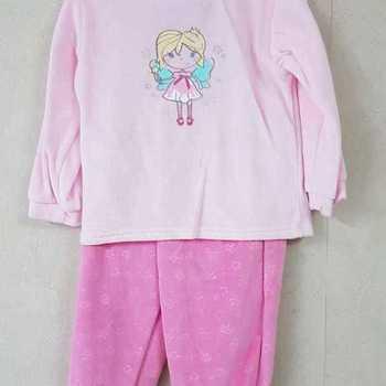 pyjama velours rasé avec pieds - princesse - 2 ans