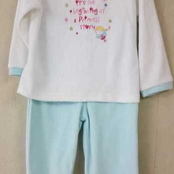 pyjama velours rasé - princess story - turquoise - 2 ans