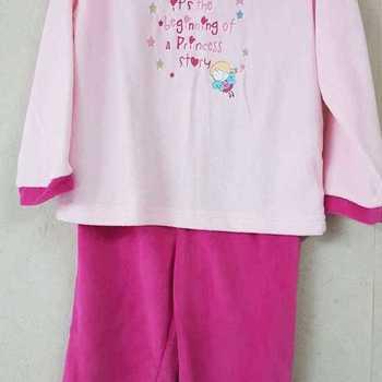 pyjama velours rasé - princess story - rose/fuschia - 2 ans