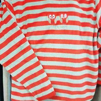pyjama velours rasé 3 hiboux == rouge - reste 6 ans en PROMO