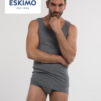 """singlet coton """"eskimo"""" fil top pour homme - gris jusque 3XL"""
