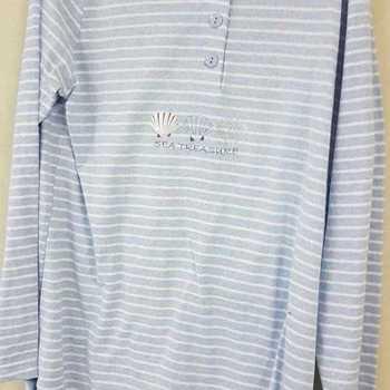 pyjama coton jersey pour dame - = chiné ciel - reste S - M -