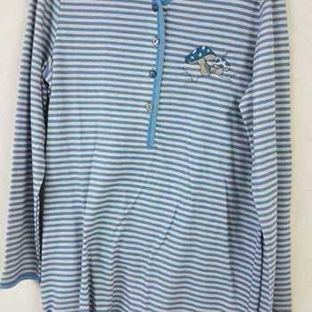pyjama coton jersey ==pétrole /taupe - qualité belge - reste S - M - L