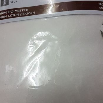 drap housse strech molletonné pour lit de 2 personnes - 1.60*2m - dourev blanc