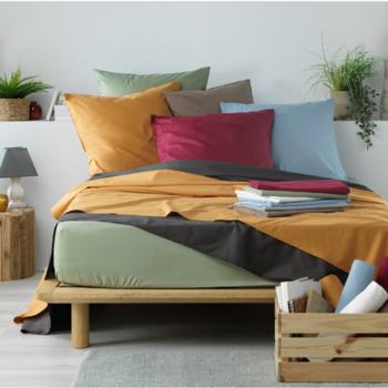 drap housse 100% coton pour lit extra grand 1.80*2.20m - profondeur 37cm boxspring - nouveaux coloris