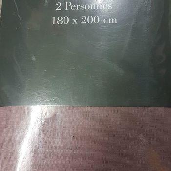 drap housse 100% coton pour lit extra grand 1.80*2m - gentle rosé