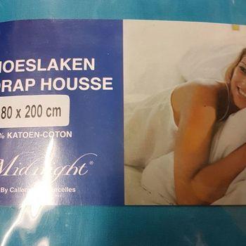 drap housse 100% coton pour lit extra grand 1.80*2m - midnight turquoise foncé
