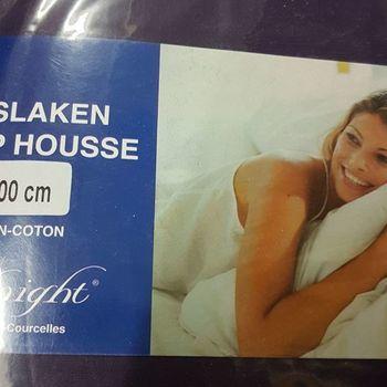 drap housse 100% coton pour lit extra grand 1.80*2m - midnight prune