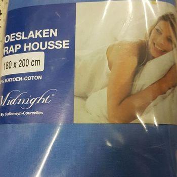 drap housse 100% coton pour lit extra grand 1.80*2m - midnight royal