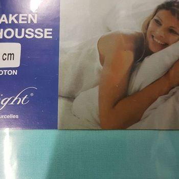 drap housse 100% coton pour lit extra grand 1.80*2m - midnight turquoise