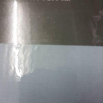 drap housse 100% coton pour extra grand lit - 2*2m - gentle bleu gris clair
