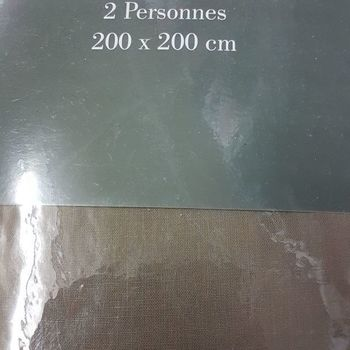drap housse 100% coton pour extra grand lit - 2*2m - gentle marron