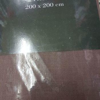 drap housse 100% coton pour extra grand lit - 2*2m - gentle taupe
