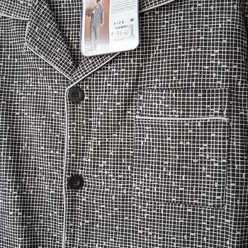 pyjama boutonné flanelle pour homme - hugo - gris - reste S