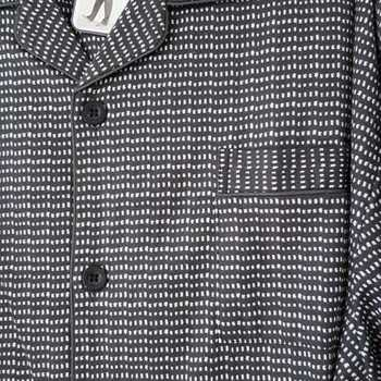 pyjama boutonné flanelle pour homme - hubb - gris foncé - taille 58 - 62 - 64