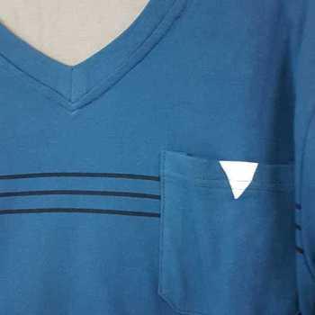 pyjama coton lourd pour homme uni bicolore - pétrole - reste M