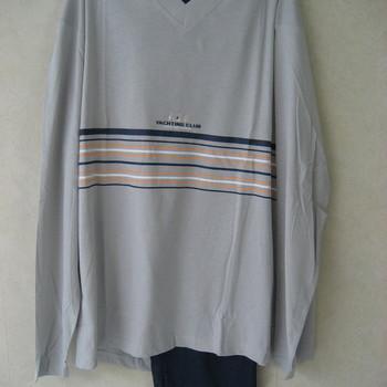 pyjama coton jersey pour homme - yachting - gris clair - reste XXL & 3XL