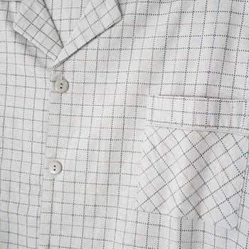 pyjama boutonné flanelle pour homme - # gris clair - XXL