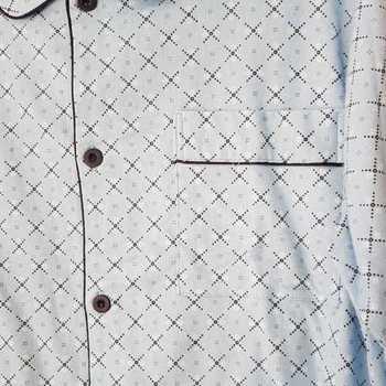 pyjama boutonné flanelle cambier ciel biais - reste 3XL