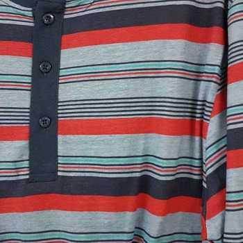 pyjama coton jersey 3 boutons marine rouge turquoise - M - L - XL
